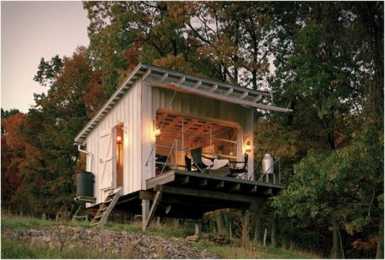 Off-The Grid Cabin With A Traditional Interior