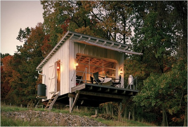 Off The Grid Cabin With A Traditional Interior Digsdigs