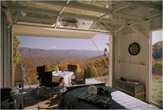 Off The Grid Cabin With A Traditional Interior
