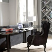 Office Redesigned In Black And White Loft