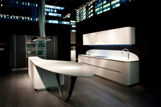 Futuristic Kitchen Design with Round Corners - Ola 20 by Snaidero ...
