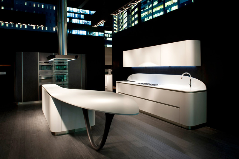 Futuristic Kitchen Design With Round Corners Ola 20 By