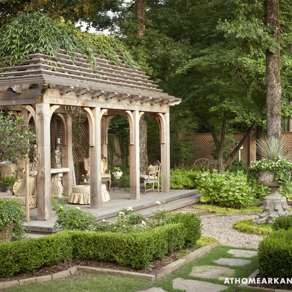Amazing old european style garden and terrace design for Terrace garden designs