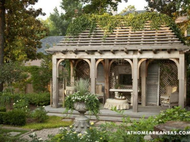 Amazing old european style garden and terrace design for Terrace gazebo