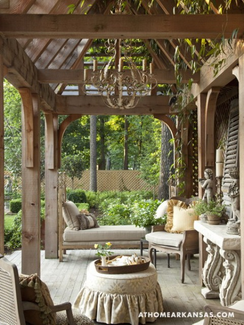 English Country Home Interiors: Amazing Old European Style Garden And Terrace Design