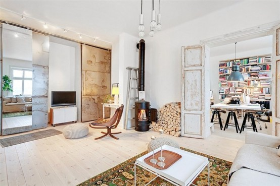 Old Meets New In Stockholm Apartment Design