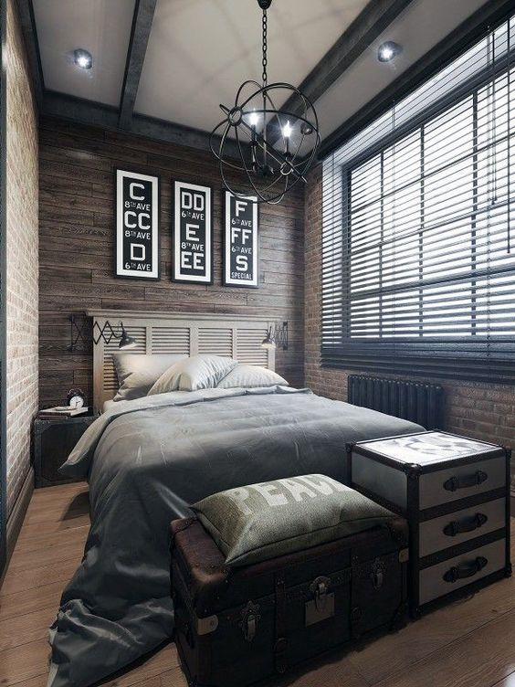 Picture of old shutters masculine headboard for Masculine headboards