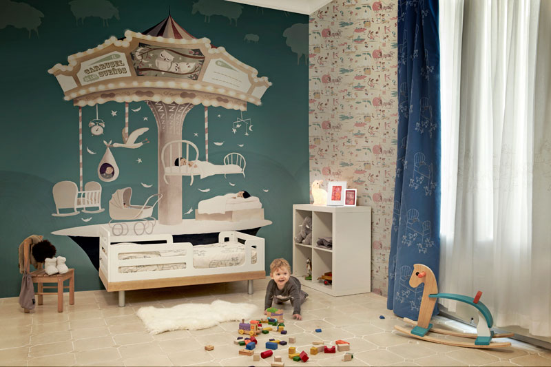 Artistic wallpapers for kids rooms digsdigs for Kids room wall paper