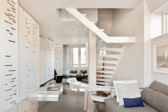 One-Of-A-Kind Penthouse With Architectural Details