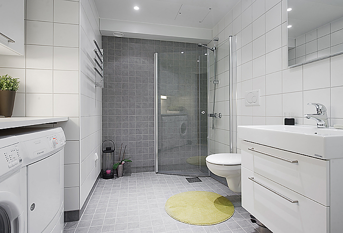 Open plan studio apartment digsdigs - Apartment bathroom designs ...