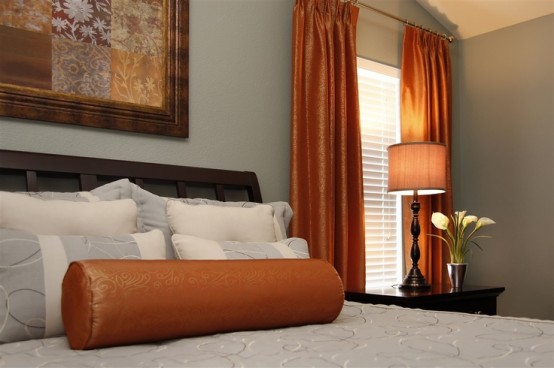 Orange Accents In Bedrooms