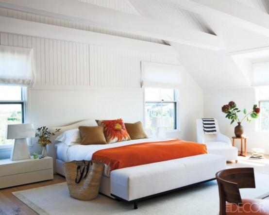 Perfect Orange Accents In Bedrooms
