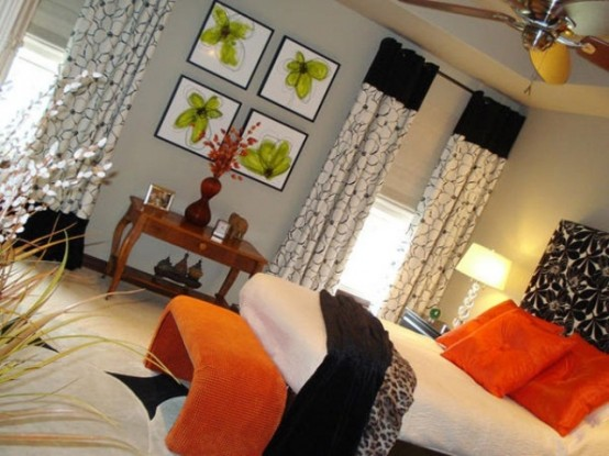 Orange Accents In Bedrooms – 68 Stylish Ideas - DigsDigs