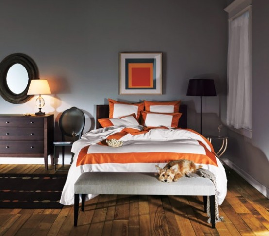 exciting bedroom orange accents | Orange Accents In Bedrooms – 68 Stylish Ideas - DigsDigs