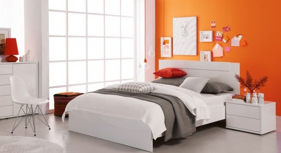 Orange accents in bedrooms 68 stylish ideas digsdigs for White and orange bedroom designs