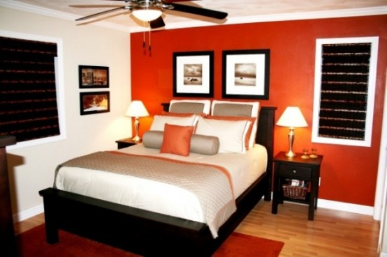 Orange accents in bedrooms 68 stylish ideas digsdigs for Bedroom inspiration orange