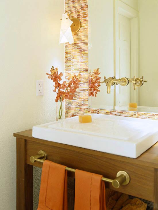 Orange Bathroom Decorating Ideas Prepossessing 31 Cool Orange Bathroom Design Ideas  Digsdigs Decorating Inspiration