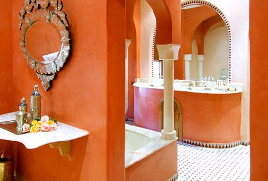 Orange Bathroom Designs