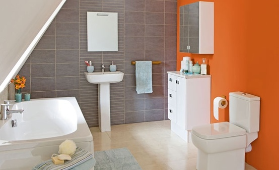 orange bathroom ideas 31 cool orange bathroom design ideas digsdigs 3307