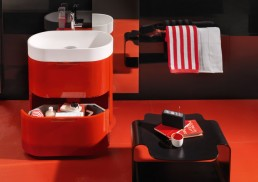 Orange Bathroom Furniture Regia