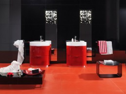 Orange Bathroom Vanities Regia