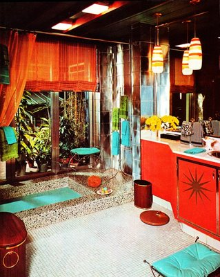 Oriental And Colorful Bathroom