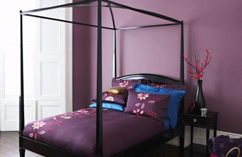 Oriental Violet Bedroom