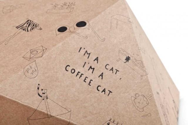 Original And Fun Catcube Nest From Cardboard