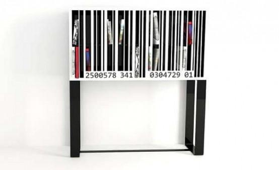 Original Barcode Bookshelf For An Industrial Interior