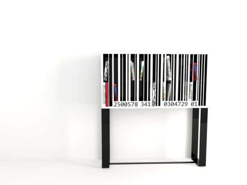 Original Barcode Bookshelf For An Industrial Interior
