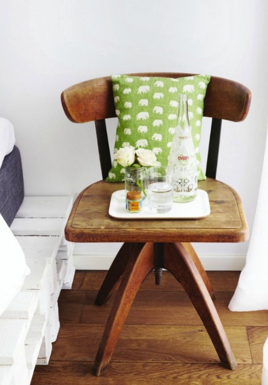 original bedside tables - Chair As Bedside Table