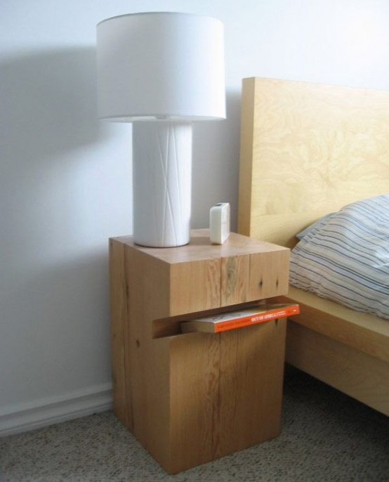 55 Cool Non-Conventional Bedside Tables - DigsDigs