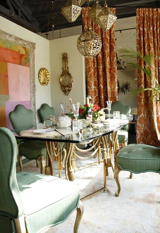 Good Original Boho Chic Dining Room Designs