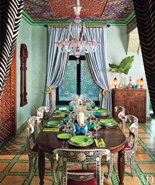 39 original boho chic dining room designs digsdigs ForBohemian Dining Room Decorating Ideas