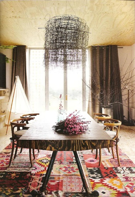 58 Original Boho Chic Dining Room Designs Digsdigs