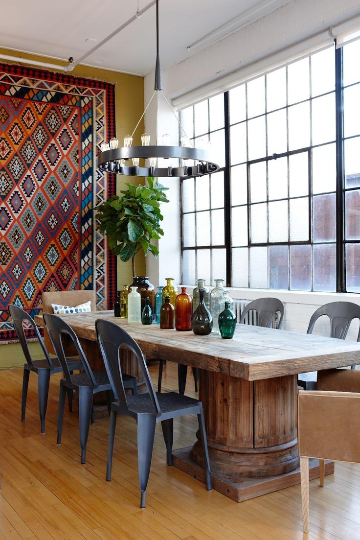 39 Original Boho Chic Dining Room Designs | DigsDigs
