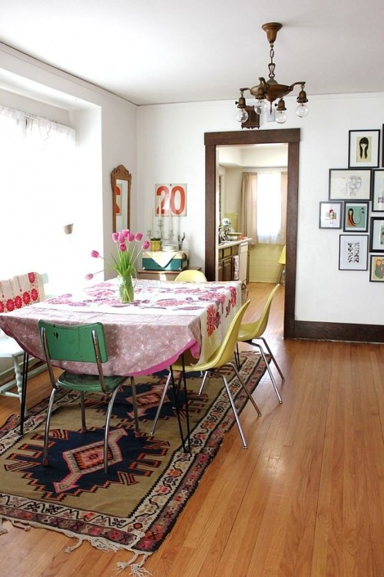 Original Boho Chic Dining Room Designs