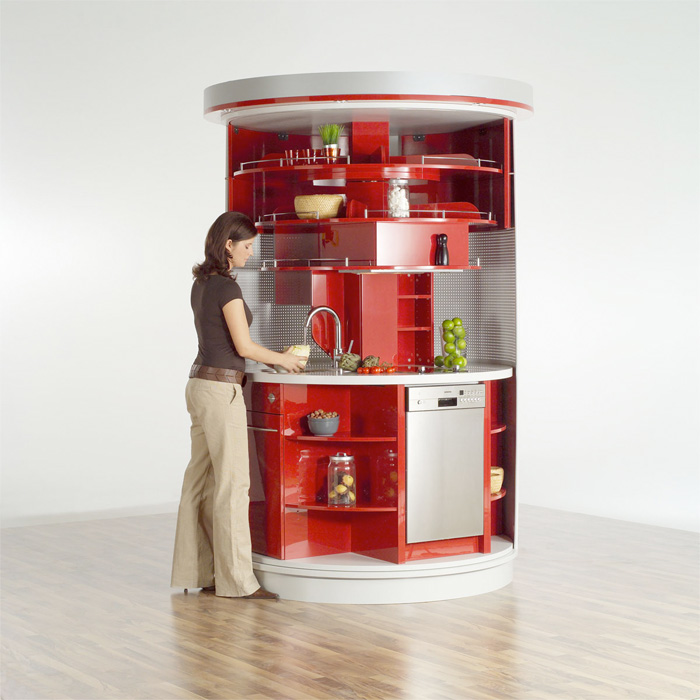Very small kitchen which has everything needed circle for Mini kitchen design