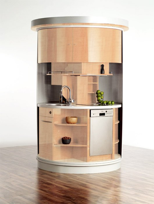 Ideas For A Very Small Kitchen Part - 32: Original Circle Kitchen For Small Space