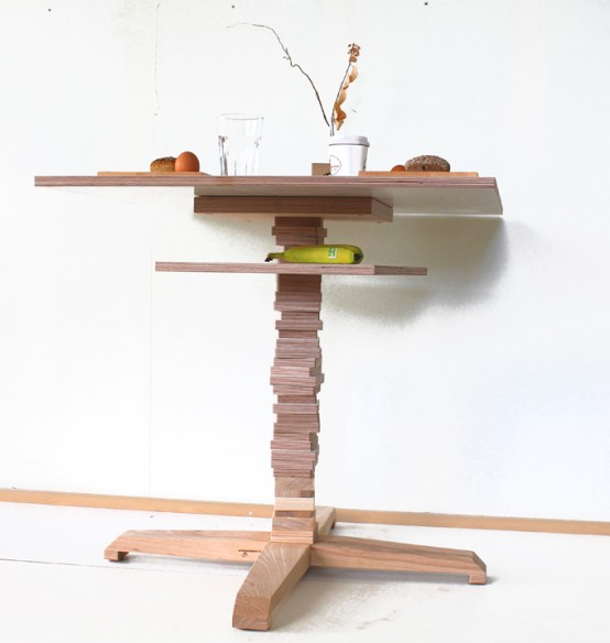 Original Furniture Collection Of Stacked Wood