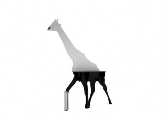 Original Giraffe Shaped Sideboard