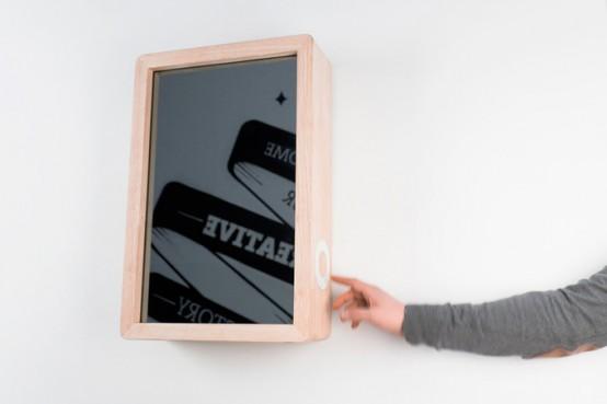 Original Hi Tech Clock With A Mirror