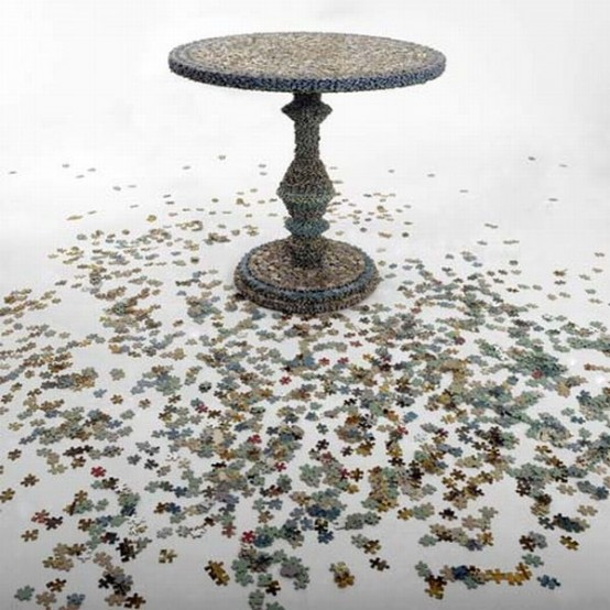 Original Jigsaw Puzzle Coffee Table DigsDigs