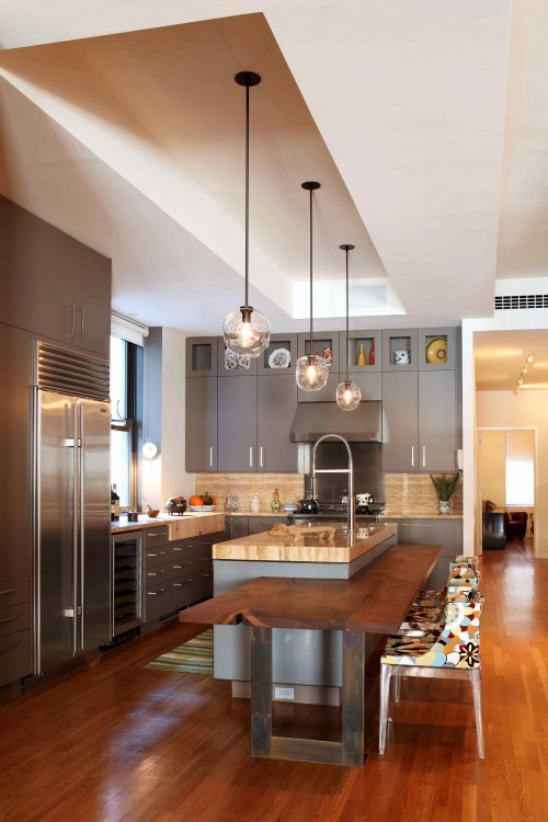 Beautiful Kitchens: 57 Original Kitchen Hanging Lights Ideas