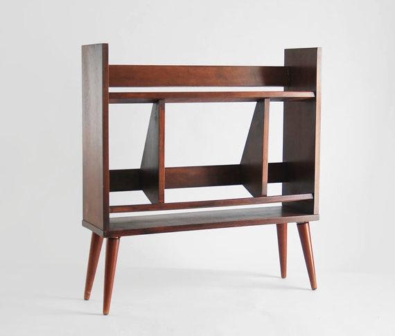 25 original mid century modern bookcases you ll like for Post modern bookshelf