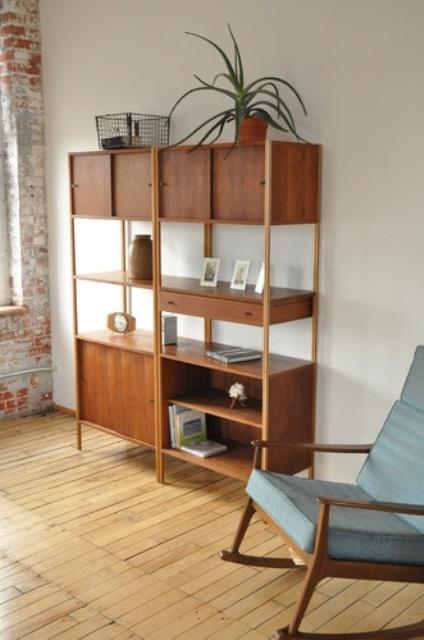 Original Mid Century Modern Bookcases - 25 Original Mid-Century Modern Bookcases You'll Like - DigsDigs