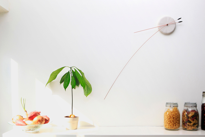 Original Minimalist Clock With Flexible Hands