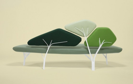 Original Pine Trees Inspired Sofa