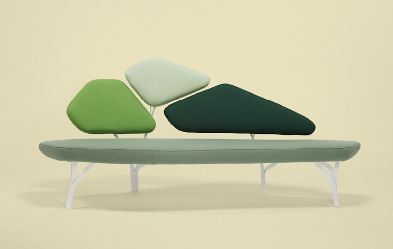 Original Pine Trees Inspired Sofa by Noé Duchaufour