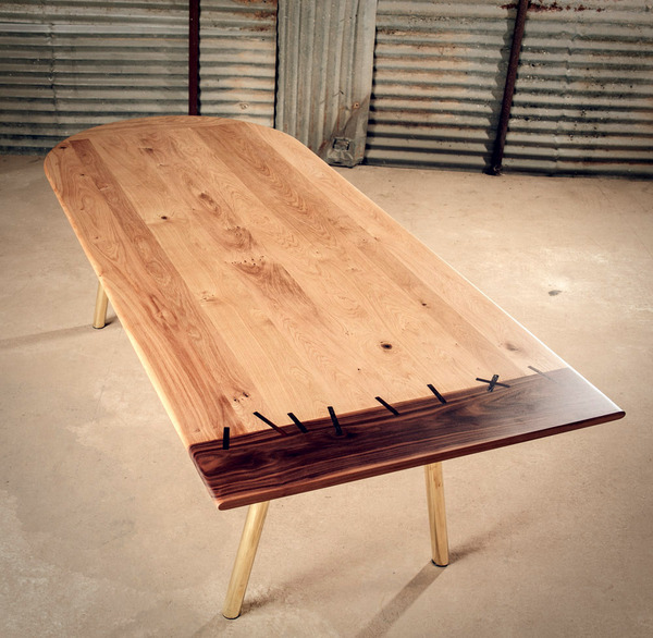 Original Rocket Dining Table From Wood And Metal